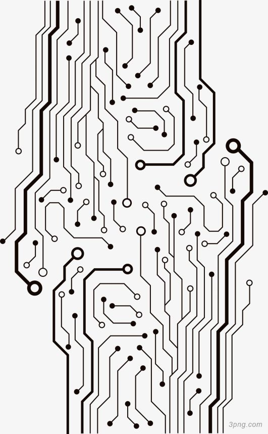 vector circuit board tree sketch coloring page